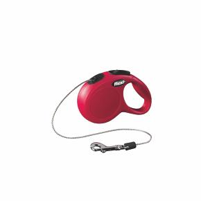 Flexi New Classic (lanko),veľkosť XS 3m/8kg červená