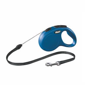 Flexi New Classic (lanko),veľkosť S 5m/12kg modrá