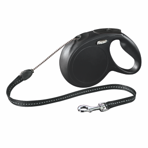 Flexi New Classic (lanko),veľkosť M 8m/20kg, čierna