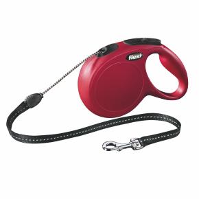 Flexi New Classic (lanko),veľkosť M 8m/20kg, červená