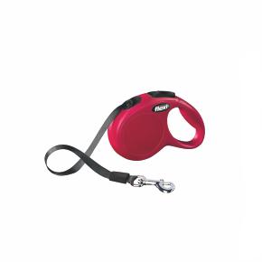 Flexi New Classic (pásik),veľkosť XS 3m/12kg, červená