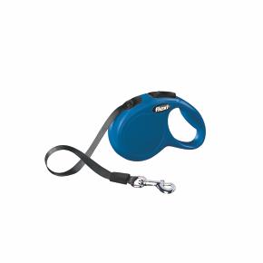 Flexi New Classic (pásik),veľkosť XS 3m/12kg, modrá