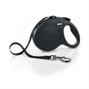 Flexi New Classic (pásik),veľkosť L 5 m/50 kg, čierna