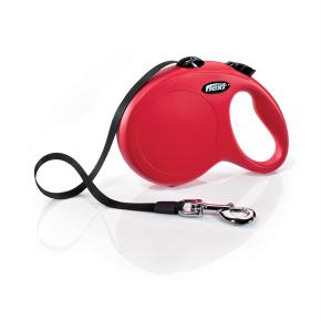 Flexi New Classic (pásik),veľkosť L 5 m/50 kg, červená