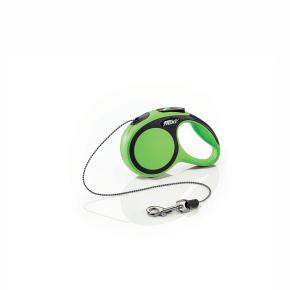 flexi New Comfort lanko, veľkosť XS 3m/8 kg, zelená