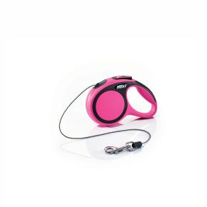 flexi New Comfort lanko, veľkosť XS 3m/8 kg, ružová