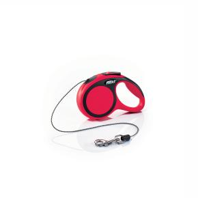 flexi New Comfort Cord (lanko), veľkosť XS, červená