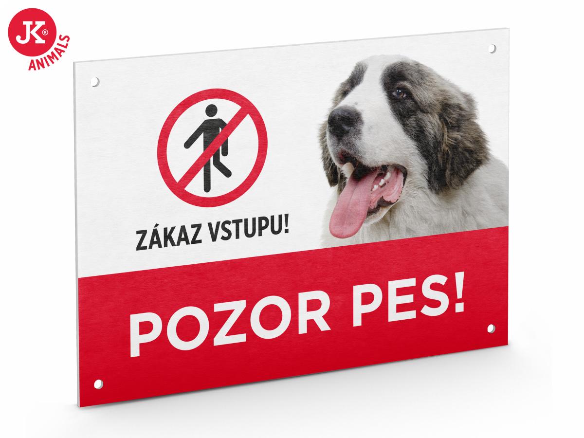 "JK ANIMALS Plastová tabuľka na plot ""POZOR PES"" | © copyright jk animals, všetky práva vyhradené"